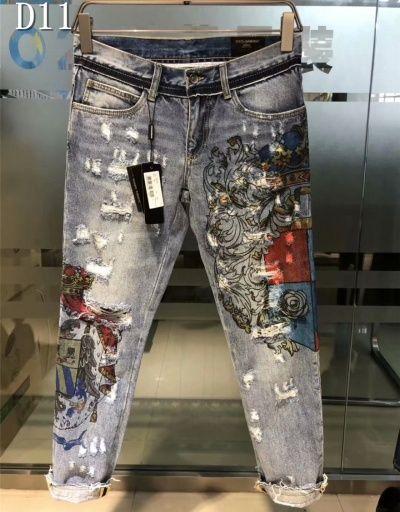 dolce gabbana mens patchwork jeans