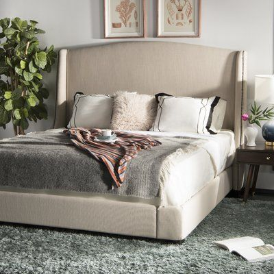 Safavieh Couture Clio Upholstered Sleigh Bed Size King In 2020