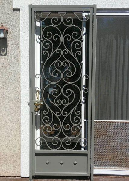 Steel Patio Door In San Diego Ca In 2020 Wrought Iron Doors Iron Doors Wrought Iron
