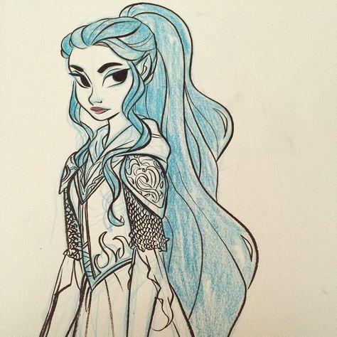Elven warrior lady! #ink #art #elf