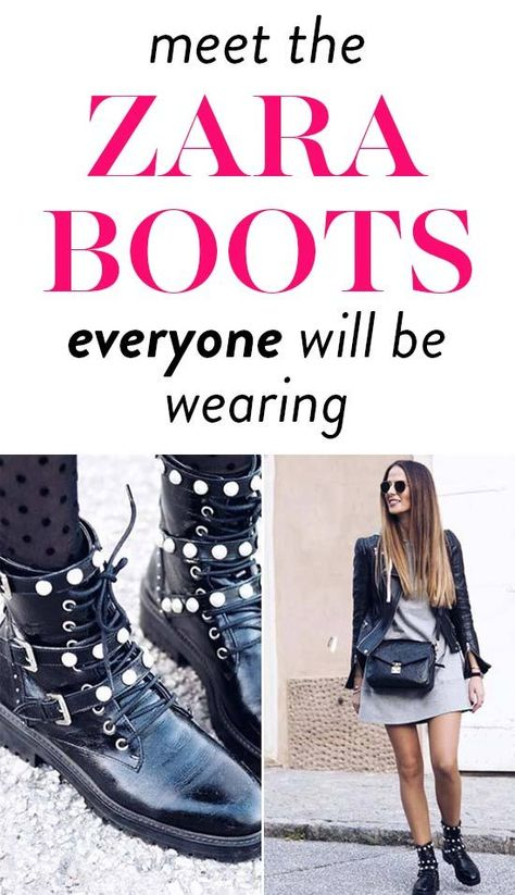 Meet The Zara Boots Everyone Will Be Buying This Month That Style Bloggers Are Snatching Up. #fashion #fashiontips #fashiontrends