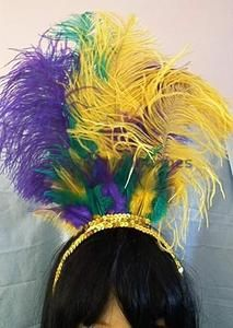 Suspenders And Feather Boa Festive Party Supplies By 4E/'s Novelty Fedora Hat Mardi Gras Party Costume Bundle Great Mardi Gras accessories