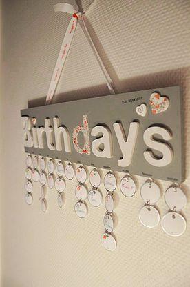 Pivoine et Caramel | Mon calendrier d'anniversaire