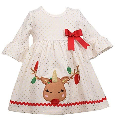 Bonnie Jean Girls Holiday Christmas Dress for Baby Toddlers and Little Girls