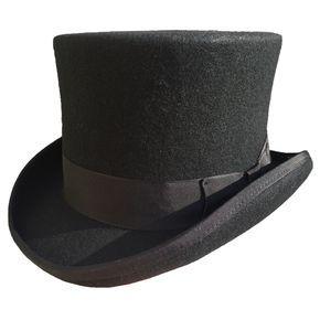Men/'s Vintage Fancy Dress Party Fedora Handmade Genuine Top Hat Wool Felt UK