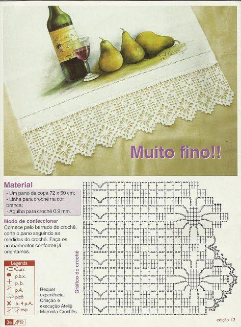 Luty Artes Crochet Barrados E Graficos De Croche Con Imagenes