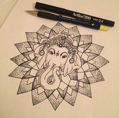 ganesh mandala, definitely a contender for a new tattoo! OMG want!