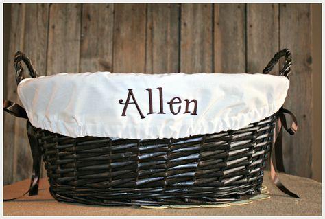 Custom Lined Wicker Basket Great For Nursery