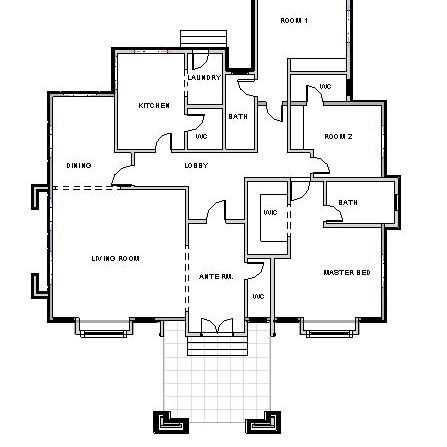 Pin By Peculiar Osiebe On My Saves Three Bedroom House Plan Bungalow Floor Plans House Floor Design