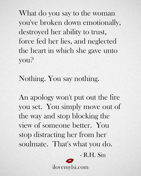 I'm not good for her as the person I am today. I need to let her go, anything else is selfish... Oh, how my selfish desires have consumed and destroyed me and those I loved most.