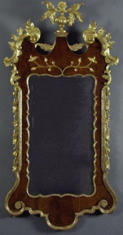 A George Ii Period Walnut Parcel Gilt Pier Mirror Circa 1740 Mirror Gilt Carving