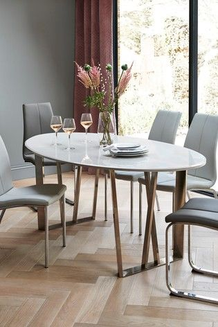 Buy Mode Gloss Oval Dining Table From The Next Uk Online Shop