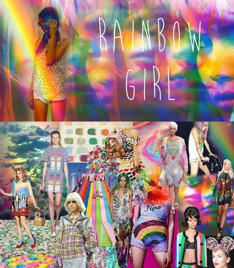 SS 2015 rainbow Girl from Fashion Snoops