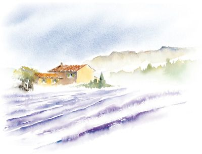 Montagne Et Neige Aquarelle Rituelaquarelle Watercolor Art