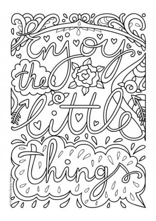 Quotation Colouring Pages Detailed Coloring Pages Coloring
