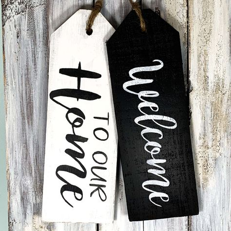 How to make Wooden Door Tags — Day to Day Adventures