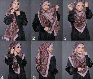 Tutorial Hijab Syar I Segi Empat Yang Simple Dan Modis Seputar Dunia Fashion Dan Trend Masa Kini Square Hijab Tutorial How To Wear Hijab Hijab Tutorial