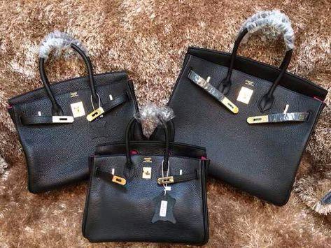 7befd915941 Hermes Togo Clafksin Birkin 25/30/35 Bag in Black (Gold Hardware)