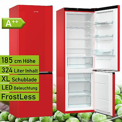 Bomann KG 320.1 Rot Kühl Gefrierkombination Kühlschrank A++
