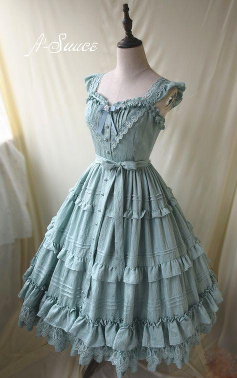 To My Dear Cinderella Vintage Classic Lolita Jumper Dress Source by emilygerdts Dresses 1800 1800s Dresses, Old Dresses, Victorian Dresses, Victorian Gothic, Gothic Lolita, Pretty Outfits, Pretty Dresses, Beautiful Dresses, Old Fashion Dresses