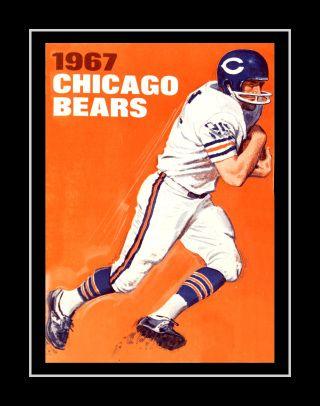 Com Vintage 1967 Chicago Bears Wall Art Poster Gift Football Game Day Program Cover Art Nfl Fan Wall Decor Chicago Bears Bears Football Wall Art