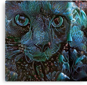 Fishtank Freakout! (Electric Catnip) Canvas Print