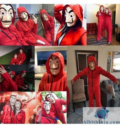 Disfraz La Casa De Papel Adulto Con Máscara Disfraces De Halloween Para Niños Las Casas De Papel Disfraces De Halloween Espeluznante