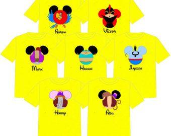 ca9bdcc2015ab ALADDIN Disney Vacation Group Shirts Disney Matching Shirts Disney ...
