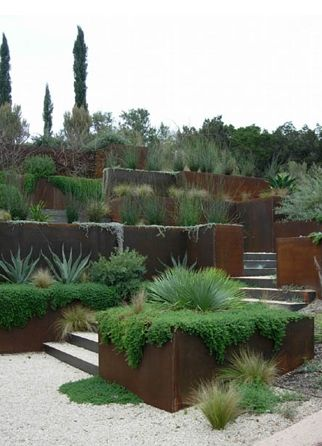 Best 25+ Corten Steel Planters Ideas On Pinterest | Corten Steel,  Contemporary Deck Boxes And Steel Landscape Edging