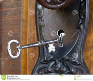 Old Skeleton Key Door Locks