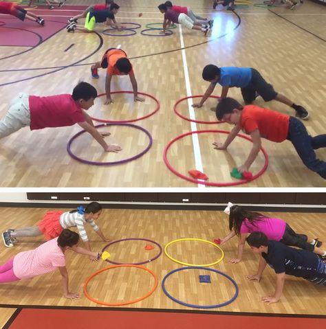 Four Square Hula Hoop PE Activity