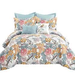 Dellaposta Floral Room Darkening Thermal Rod Pocket Curtain Panels In 2020 Comforter Sets Blue Comforter Sets Floral Room