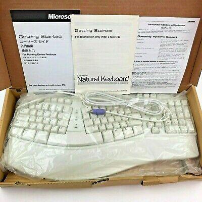 Microsoft Natural Keyboard Elite Ps 2 White Ergonomic In 2020 Keyboard Microsoft Ergonomics