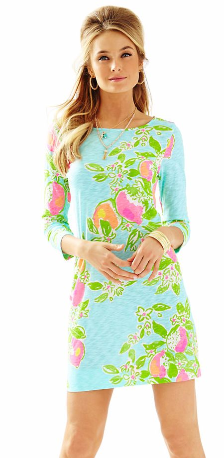 Tropical Boatneck T-shirt Dress
