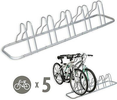 5 Bike Bicycle Stand Rack Garage Storage Floor Parking Adjustable Holder Silver Ebay In 2020 Indoor Bike Storage Bike Stand Indoor Bike