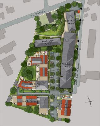 Illustration de Plan de masse 2D   3D de projet immobilier 3dms