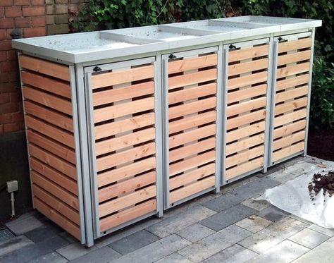 Mülltonnenbox für 4 Mülltonnen | Garages • Workshops ...