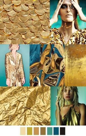 A/W 2017-18 women's patterns & colors trends: GOLDEN STATE by gena