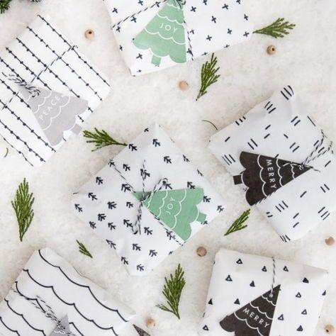 Scandinavian Gift Wrap + Printable