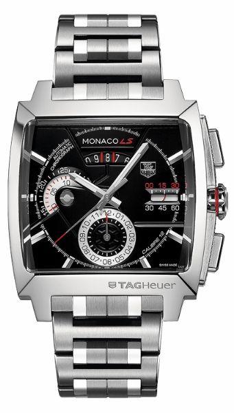 Monaco Black Dial Bracelet Mens Automatic Watch. 100% Authentic.