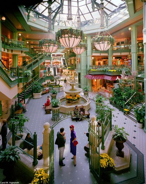The Glory Days of the Shopping Mall Are Long Gone – Dusty Old Thing Shopping Mall Interior, Shopping Malls, South Coast Plaza Mall, 80s Interior Design, Hickory Farms, Dead Malls, Long Gone, Dream Mansion, Mall Design