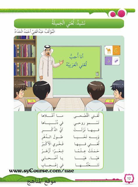 الصف الأول الفصل الأول لغة عربية كتاب الطالب الفصل الأول 2017 على شكل صور موقع المناهج Learn Arabic Language Teach Arabic Learning Arabic