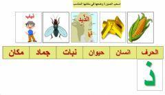 حرف الذال Language Arabic Grade Level G1 School Subject اللغة العربية Main Content لعبة إنسان حيوان جماد Other Worksheets Online Activities Online Workouts