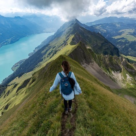 Hardergrat trail, Switzerland Best place on earth to forget about all your worries. Oh The Places You'll Go, Places To Travel, Travel Destinations, Switzerland Destinations, Switzerland Trip, Dream Vacations, Vacation Spots, I Want To Travel, Future Travel