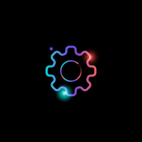 Download premium vector of Setting gear social media icon vector 931844