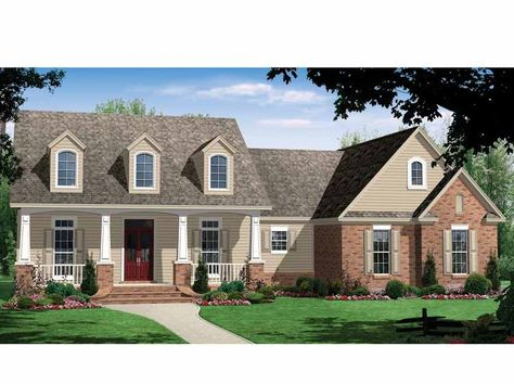 Love this floorplan! Country House Plan with 2500 Square Feet and 4 Bedrooms(s) from Dream Home Source | House Plan Code DHSW53942