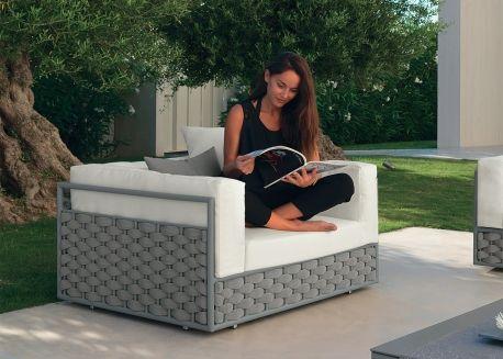 Fauteuil De Jardin Gris Design Italien Tres Confortable Kira Par