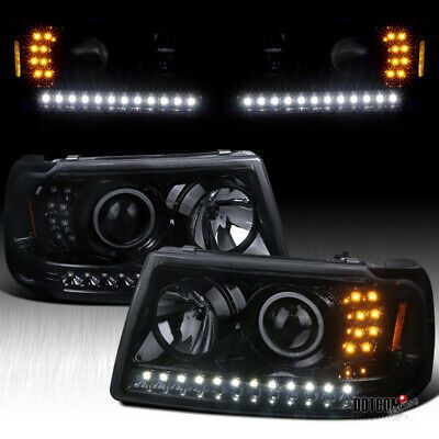 ad ebay fits 2001 2011 ranger black smoke projector headlights w built in led corner in 2020 projector headlights black smoke ranger pinterest