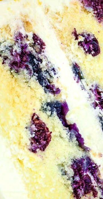 Lemon Blueberry Buttermilk Cake Lemon Cream Cheese Frosting Sugar Geek Show Recipe Savoury Cake Blueberry Cake Lemon Blueberry