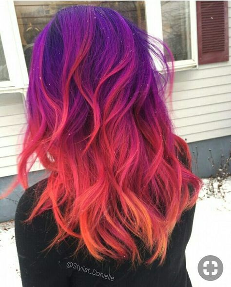 Terrific Pic Dyed Hair bright Style Are your sources giving the action out that will you aren't a natural golden-haired Cute Hair Colors, Pretty Hair Color, Beautiful Hair Color, Hair Dye Colors, Ombre Hair Color, Purple Hair, Bright Hair Colors, Unicorn Hair Color, Vivid Hair Color